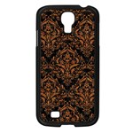 DAMASK1 BLACK MARBLE & RUSTED METAL (R) Samsung Galaxy S4 I9500/ I9505 Case (Black) Front