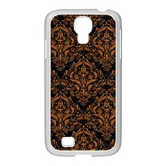 Damask1 Black Marble & Rusted Metal (r) Samsung Galaxy S4 I9500/ I9505 Case (white) by trendistuff