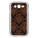 DAMASK1 BLACK MARBLE & RUSTED METAL (R) Samsung Galaxy Grand DUOS I9082 Case (White) Front
