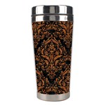 DAMASK1 BLACK MARBLE & RUSTED METAL (R) Stainless Steel Travel Tumblers Center
