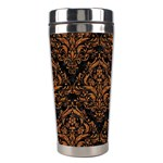 DAMASK1 BLACK MARBLE & RUSTED METAL (R) Stainless Steel Travel Tumblers Right