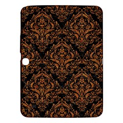 Damask1 Black Marble & Rusted Metal (r) Samsung Galaxy Tab 3 (10 1 ) P5200 Hardshell Case