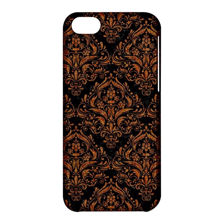 DAMASK1 BLACK MARBLE & RUSTED METAL (R) Apple iPhone 5C Hardshell Case