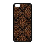 DAMASK1 BLACK MARBLE & RUSTED METAL (R) Apple iPhone 5C Seamless Case (Black) Front