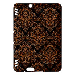 Damask1 Black Marble & Rusted Metal (r) Kindle Fire Hdx Hardshell Case by trendistuff
