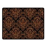 DAMASK1 BLACK MARBLE & RUSTED METAL (R) Double Sided Fleece Blanket (Small)  45 x34 Blanket Back