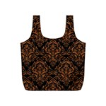 DAMASK1 BLACK MARBLE & RUSTED METAL (R) Full Print Recycle Bags (S)  Back