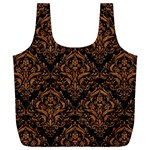 DAMASK1 BLACK MARBLE & RUSTED METAL (R) Full Print Recycle Bags (L)  Front