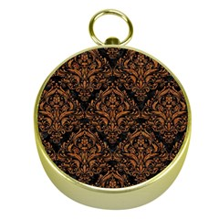Damask1 Black Marble & Rusted Metal (r) Gold Compasses by trendistuff