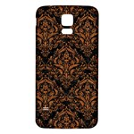 DAMASK1 BLACK MARBLE & RUSTED METAL (R) Samsung Galaxy S5 Back Case (White) Front