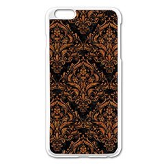 Damask1 Black Marble & Rusted Metal (r) Apple Iphone 6 Plus/6s Plus Enamel White Case by trendistuff