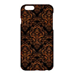 Damask1 Black Marble & Rusted Metal (r) Apple Iphone 6 Plus/6s Plus Hardshell Case by trendistuff