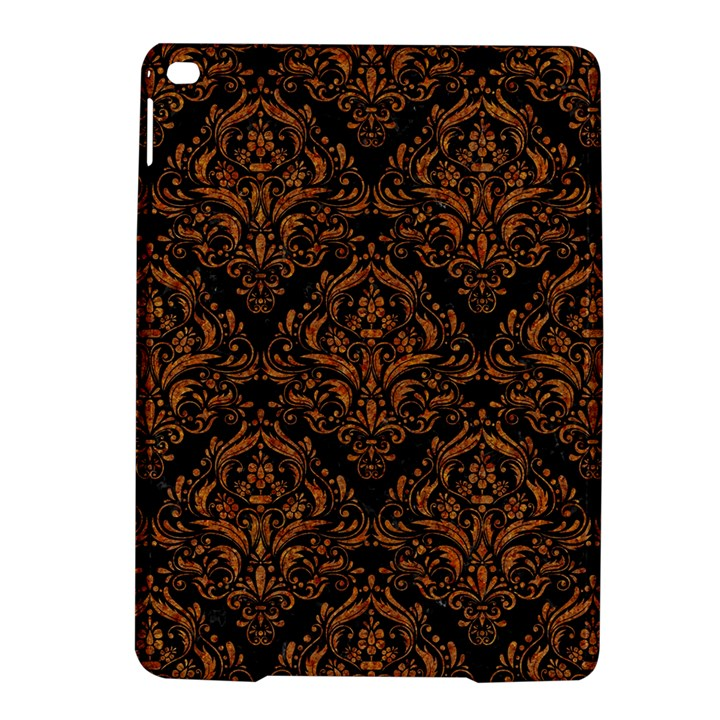 DAMASK1 BLACK MARBLE & RUSTED METAL (R) iPad Air 2 Hardshell Cases