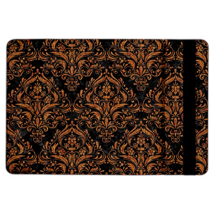 DAMASK1 BLACK MARBLE & RUSTED METAL (R) iPad Air 2 Flip