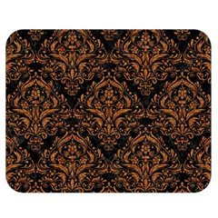Damask1 Black Marble & Rusted Metal (r) Double Sided Flano Blanket (medium)  by trendistuff