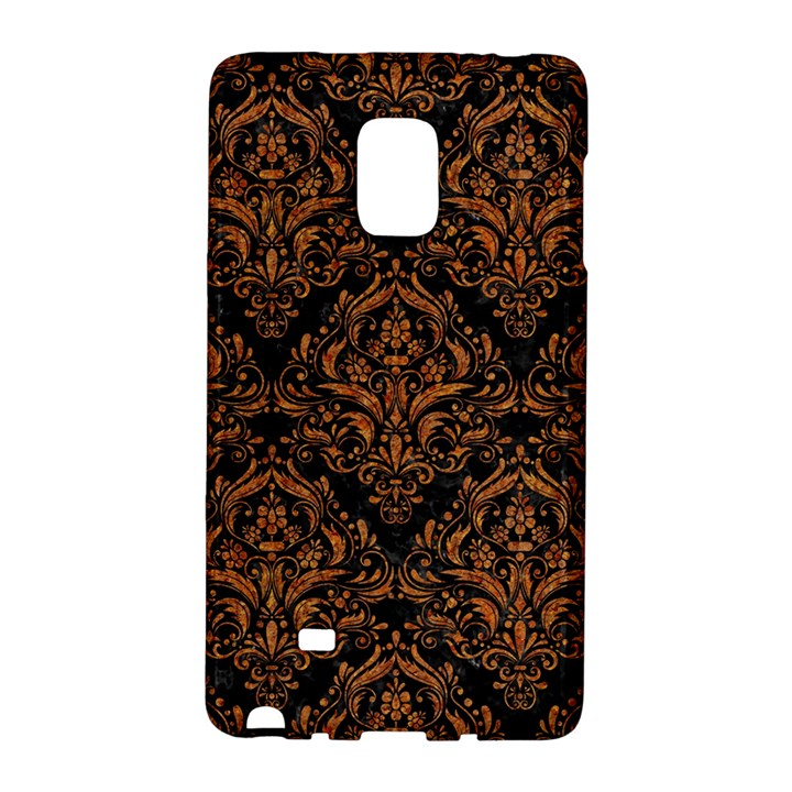 DAMASK1 BLACK MARBLE & RUSTED METAL (R) Galaxy Note Edge