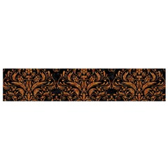Damask1 Black Marble & Rusted Metal (r) Flano Scarf (small) by trendistuff