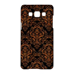 Damask1 Black Marble & Rusted Metal (r) Samsung Galaxy A5 Hardshell Case