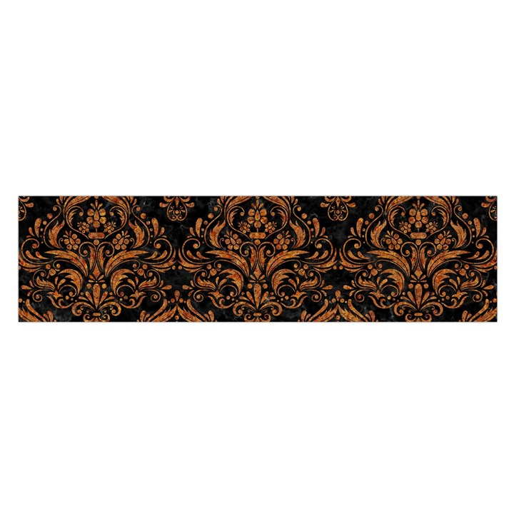 DAMASK1 BLACK MARBLE & RUSTED METAL (R) Satin Scarf (Oblong)