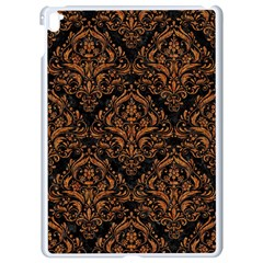 Damask1 Black Marble & Rusted Metal (r) Apple Ipad Pro 9 7   White Seamless Case