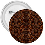 DAMASK2 BLACK MARBLE & RUSTED METAL 3  Buttons Front