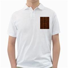 DAMASK2 BLACK MARBLE & RUSTED METAL Golf Shirts