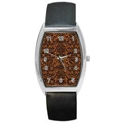 DAMASK2 BLACK MARBLE & RUSTED METAL Barrel Style Metal Watch
