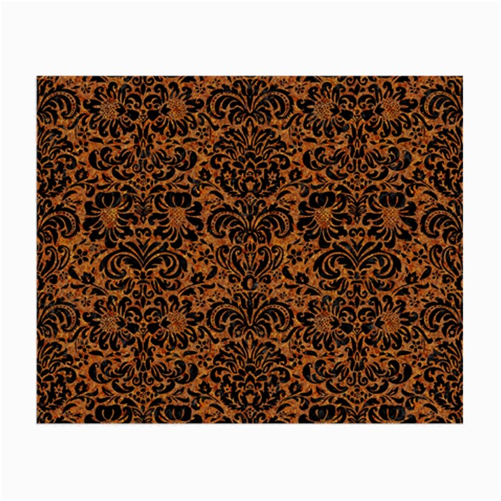 DAMASK2 BLACK MARBLE & RUSTED METAL Small Glasses Cloth
