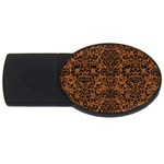 DAMASK2 BLACK MARBLE & RUSTED METAL USB Flash Drive Oval (4 GB) Front