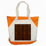 DAMASK2 BLACK MARBLE & RUSTED METAL Accent Tote Bag Front