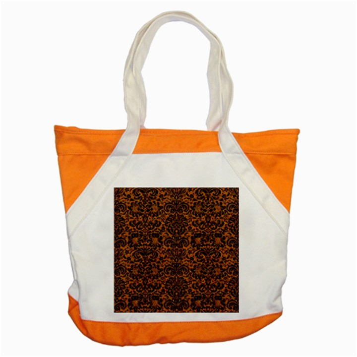 DAMASK2 BLACK MARBLE & RUSTED METAL Accent Tote Bag