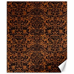 Damask2 Black Marble & Rusted Metal Canvas 20  X 24   by trendistuff