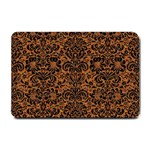 DAMASK2 BLACK MARBLE & RUSTED METAL Small Doormat  24 x16 Door Mat - 1