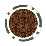 DAMASK2 BLACK MARBLE & RUSTED METAL Poker Chip Card Guard Back