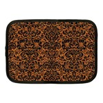 DAMASK2 BLACK MARBLE & RUSTED METAL Netbook Case (Medium)  Front