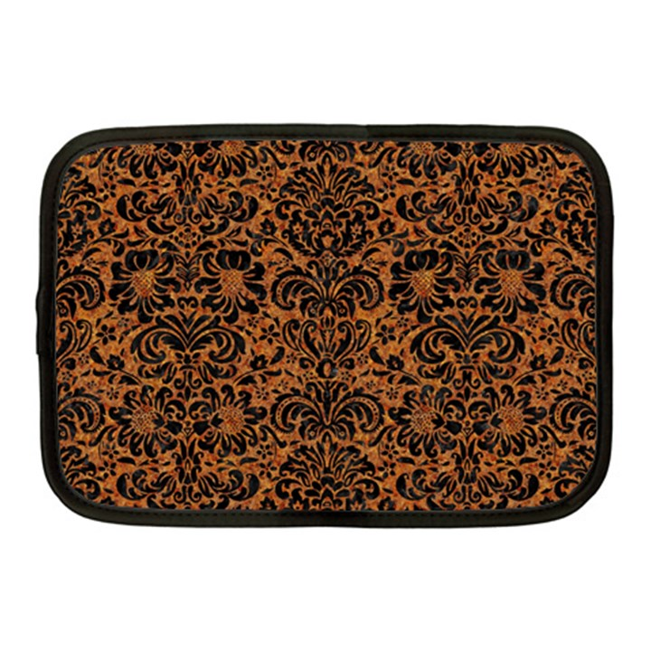 DAMASK2 BLACK MARBLE & RUSTED METAL Netbook Case (Medium)