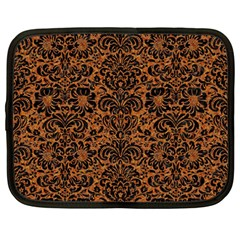 Damask2 Black Marble & Rusted Metal Netbook Case (large) by trendistuff