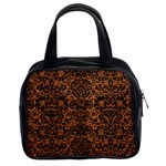 DAMASK2 BLACK MARBLE & RUSTED METAL Classic Handbags (2 Sides) Front