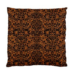 Damask2 Black Marble & Rusted Metal Standard Cushion Case (one Side) by trendistuff