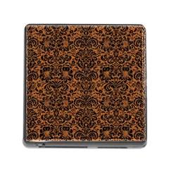 Damask2 Black Marble & Rusted Metal Memory Card Reader (square)