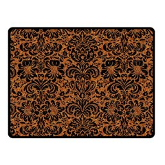 Damask2 Black Marble & Rusted Metal Fleece Blanket (small) by trendistuff