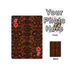 DAMASK2 BLACK MARBLE & RUSTED METAL Playing Cards 54 (Mini)  Front - HeartJ