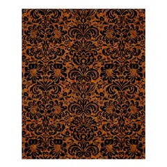 DAMASK2 BLACK MARBLE & RUSTED METAL Shower Curtain 60  x 72  (Medium)