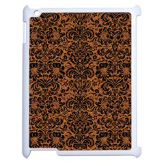 Damask2 Black Marble & Rusted Metal Apple Ipad 2 Case (white)