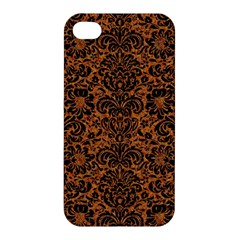 Damask2 Black Marble & Rusted Metal Apple Iphone 4/4s Hardshell Case by trendistuff