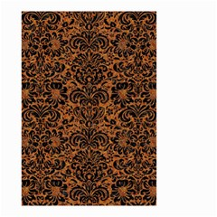 Damask2 Black Marble & Rusted Metal Small Garden Flag (two Sides)