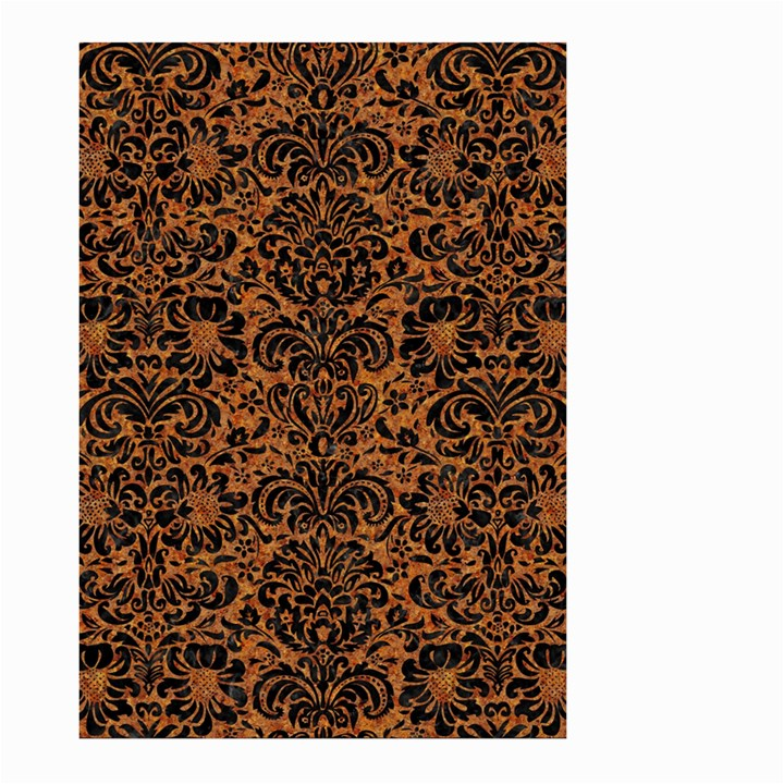 DAMASK2 BLACK MARBLE & RUSTED METAL Large Garden Flag (Two Sides)