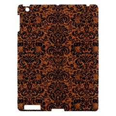 Damask2 Black Marble & Rusted Metal Apple Ipad 3/4 Hardshell Case by trendistuff