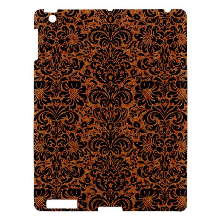DAMASK2 BLACK MARBLE & RUSTED METAL Apple iPad 3/4 Hardshell Case