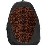 DAMASK2 BLACK MARBLE & RUSTED METAL Backpack Bag Front